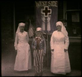 Nursing ladies and child