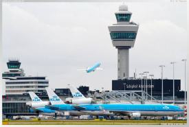 KLM aircraft at EHAM