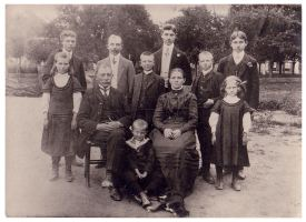 Familiefoto ca. 1910 - S. Macrander-J.B.C. Hesselmann - Pais en vree