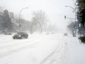 Auto-s in de sneeuw...