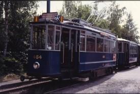 ANE49 - Blauw tram 454 - met aanhanger Amstelveen - 050792 - Scan10122