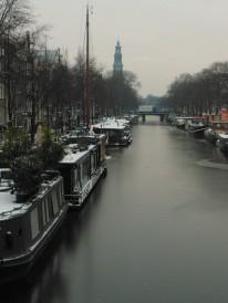Eerder foto- dan schaatskoorts Prinsengracht, hartje Jordaan...